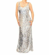 Just Blue - New Full Length Sequin Maxi Dress