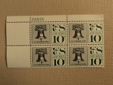 USPS Scott C57 10c Let Freedom Ring Liberty Bell 1960 Mint NH Plate Block