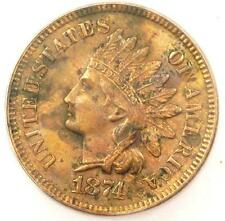 1874 Indian Cent Penny 1C - Certified Icg Ms60 Details (Unc) - Rare Coin!