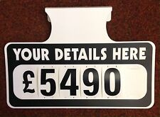 6 X Personalised Car For Sale Signs Board Price / Pricing Sun Visor Vehicle Kit