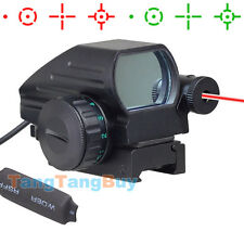 New Tactical Holographic Reflex Red Green Dot Scope 4 Reticle & Red- Laser Sight