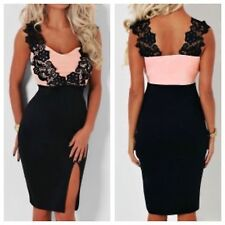 NEW CELEB SEXY BLACK BODYCON BOUTIQUE  DRESS 8-10