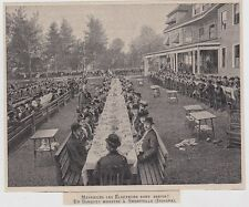 1906  --  INDIANA  CAMPAGNE ELECOTRALE  UN BANQUET MONSTRE A SHEBYVILLE   3G710