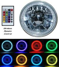 "5-3/4"" Multi-Color Halo H4 Bulb Headlight RGB SMD LED Fits: Harley Motorcycle"