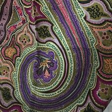 "New WORK OF ART ETRO cashmere silk SCARF, calcutta, 45x140cm, 55""x17"" Greens"