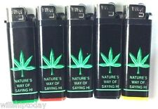 5 Pot Leaf Lighters marijuana styles Disposable Standard Size