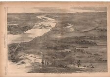1862 Harpers Weekly Print - Birds-Eye View of Richmond Virginia and Vicinity