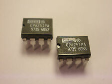 ( 2 PC. ) BURR-BROWN OPA251PA OPAMP, 8 PIN DIP, NEW