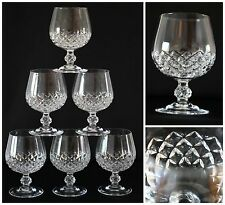 Cristal D'Arques Longchamp Pattern 6 Balloon Glasses 24% Lead Crystal  France