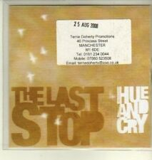 (CW294) Hue And Cry, The Last Stop - 2008 DJ CD