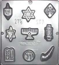 Jewish Assortment Religious Chocolate Candy Mold  410 NEW