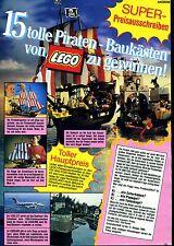 Lego--Piraten--Baukästen--Preisausschreiben --Werbung von 1989--