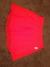 New Orange Skirt Jupe Size Large Old Navy Pleated Mini Skirt Polyester