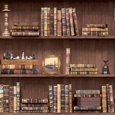 Holden VINTAGE Book Case Ecopelle Carta da parati effetto legno scaffale libreria ROLL 11950