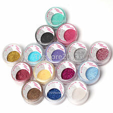 15 Pearl Metallic Loose Eyeshadow Pigments Powder Eye Beauty Dust Makeup Tools