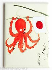 Japanese Octopus FRIDGE MAGNET (2 x 3 inches) japan flag advertisement