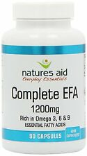 Natures Aid -Complete EFA 1200mg (Essential Fatty Acids) 90 softgels