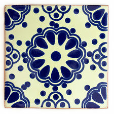Fairly Traded Handmade Ceramic Mexican Talavera Tile - 'Benedicto' (T12860-27)