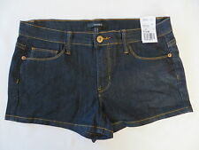 Junior Forever 21 Dark Blue Denim Cotton Blend Shorts Size 29 NWT