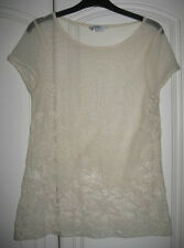 Cream lace top t-shirt size 10 from New Look