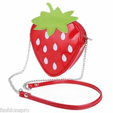 Strawberry Shoulder Messenger Packet Phone Purse Stereotypes Chain Bag