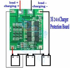 3S 24A Li-ion Lithium Battery 3.7V 18650 Charger batteries Protection Board
