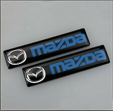 2x Mazda MX3 MX5 MX6 RX7 RX8 CX 2 3 5 6 Badge Emblem Car Door Wing Side 106