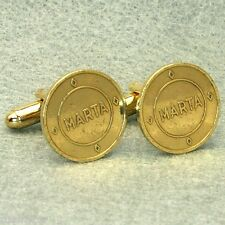 Atlanta Vintage Transit Token Cufflinks,  MARTA Small Brass