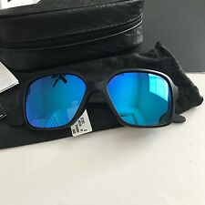Oakley Womens Proxy Sunglasses Matte Black Blue Iridium Mirrored Lens OO9312-06