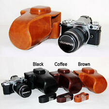 Leather Camera case bag pouch strap Grip for Olympus OM-D OMD E-M5 Mark II