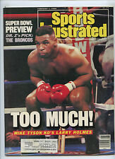 Sports Illustrated Mike Tyson KO Larry Holmes 1988 Super Bowl Preview