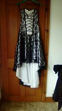 stunning corset dress size s fit 8 - 10 burlesk vgc gothic  steampunk lace up ba