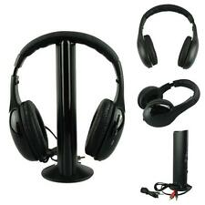 5IN1 Sans-Fil Casque Acoustique Sans Fil Ecouteur Hi-Fi Radio FM TV MP3 MP4