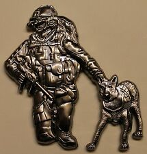 K-9 Master at Arms Handler SEALS Slip The Dogs of War Chief Navy Challenge Coin