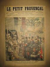 RUSSIE FUNERAILLES GRAND DUC GEORGES ATTAQUE BOULEDOGUE LE PETIT PROVENCAL 1899