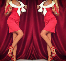 Sexy Ladies Women off Shoulder Bodycon Cocktail Party Evening Pencil Mini Dress