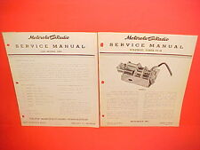 1946 1947 CHRYSLER DESOTO DODGE PLYMOUTH MOTOROLA RADIO + TUNER SERVICE MANUAL