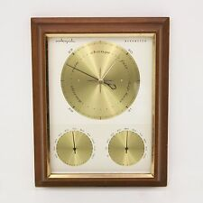 Vtg Mid Century Airguide Weather Station Barometer Thermometer Hygrometer Gauge