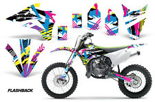 Kawasaki Graphic Kit AMR Racing Bike Decal KX 85/100 Decal MX Parts 2014 FLASHBK