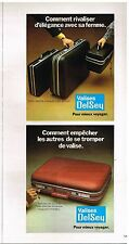 Publicité Advertising 1976 Les Valises Delsey