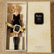 Mattel Gold Label silkstone classic black dress Barbie doll