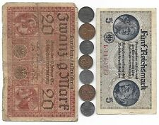 Rare Old Nazi Germany WWI WWII Dollar Note SS Swastika Coin Collection War Lot