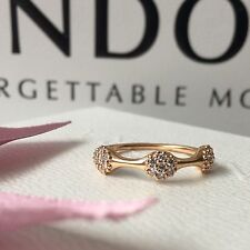 ORIGINALE Pandora tre Love Pod 18ct Rose Oro & Anello Di Diamanti Taglia 55 7.5 NUOVI