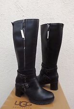 UGG LANA WATER-RESISTANT LEATHER SHEEPSKIN HIGH HEEL BOOTS, US 9/ EUR 40  ~NEW