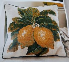 "EHRMAN 1989 Kaffe Fassett LEMONS CREAM Tapestry Needlepoint Kit 15"" x 14.5"" Rare"