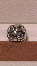 ORIGINALE PANDORA Sterling Silver 925 Ale Blu Bolle Ciondolo 790329CZB