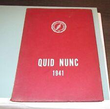1941 Roland Park Country Girls High School Quid Nunc Yearbook Baltimore Maryland