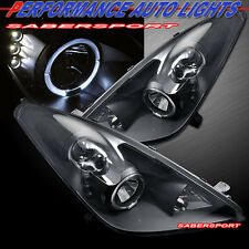 2000-2005 TOYOTA CELICA HALO PROJECTOR HEADLIGHTS W/ LED BLACK PAIR