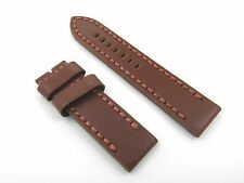 24mm Brown Leather Watch Band Strap Fits Panerai