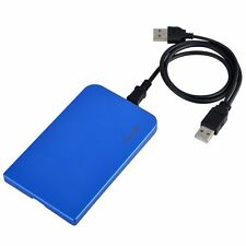 "2.5"" Inch Sata USB 2.0 Hard Drive HDD Enclosure External Laptop Disk Blue New"